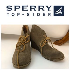 Sperry Shoes - Sperry Suede Brown Ankle Boots